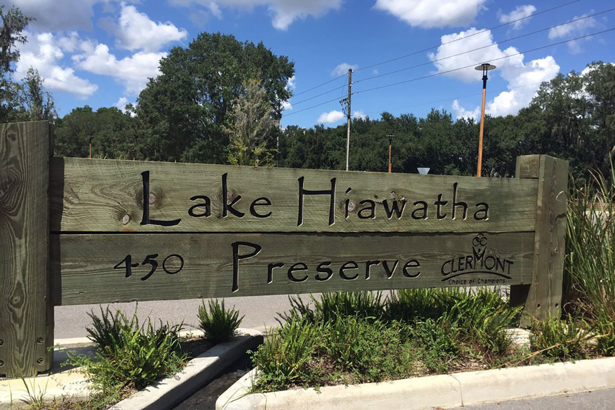 Lake Hiawatha Preserve Sign